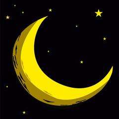 lune, étoile, astre, planète, univers, espace, cosmos,