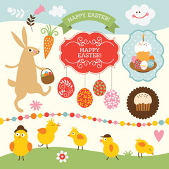 Easter collection, design elements