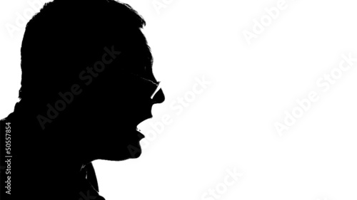 Silhouette, isolated on white background