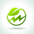 green energy electricity icon - 50558201