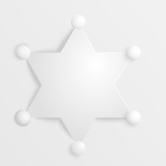 Stylized image of a sheriff's star on white background