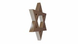 star of David spinning on its axis 3d animation  HD 1920 x 1080 poster
