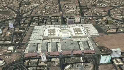 madina holy city from space