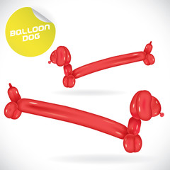 Glossy Balloon Dog Illustration, Icons, Button, Sign, Symbol
