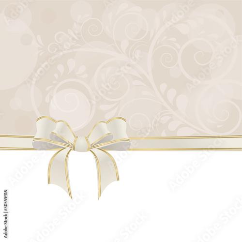 Hintergrund aus Ornamenten mit Dekoschleife
