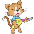 Cartoon Cat Playing an Electric Guitar