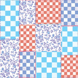 Dutch seamless plaid pattern - delfts blue design