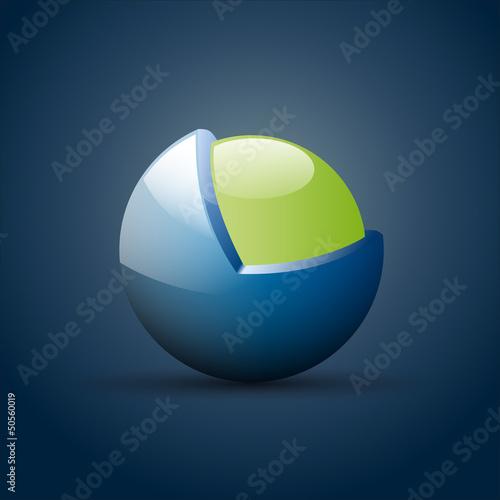 Vector Logo metamorphosis, protected sphere