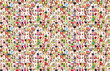 canvas print picture - Portrait of a lot of people