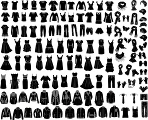 large set of clothes male female
