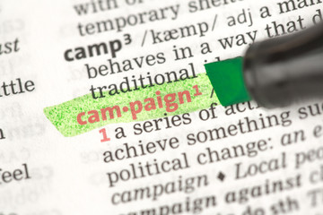 Campaign definition highlighted in green