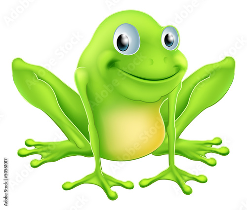 Cartoon frog character