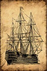 Retroplakat - Segelschiff