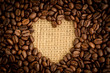 Heart indent in coffee beans