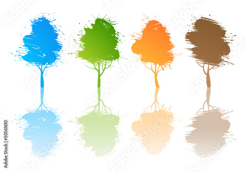 Set of colored trees