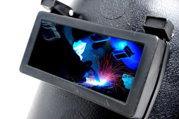 welders in welding mask