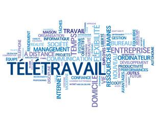 """Nuage de Tags """"TELETRAVAIL"""" (management télétravail à domicile)"""