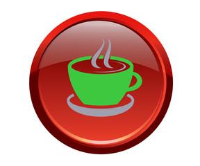 Botón taza cafe