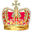 of royal gold crown with jewels and ornament