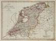Netherlands vintage map
