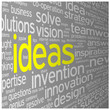 """IDEAS"" Tag Cloud (innovation solutions problem-solving)"