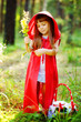 """girl in the wood. the fairy tale """" Red Riding Hood"""""""