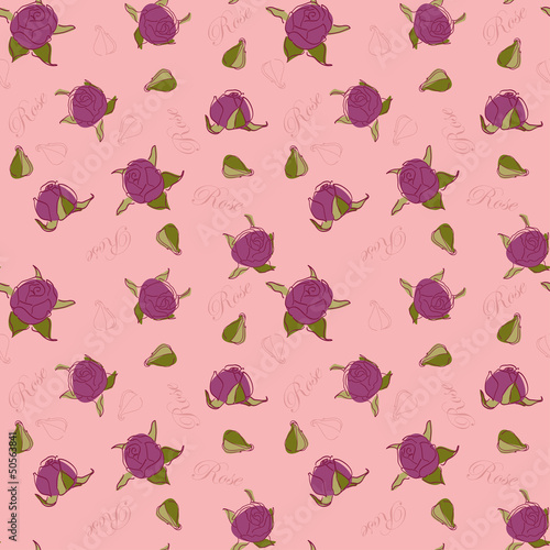 Pattern roses on a pink background