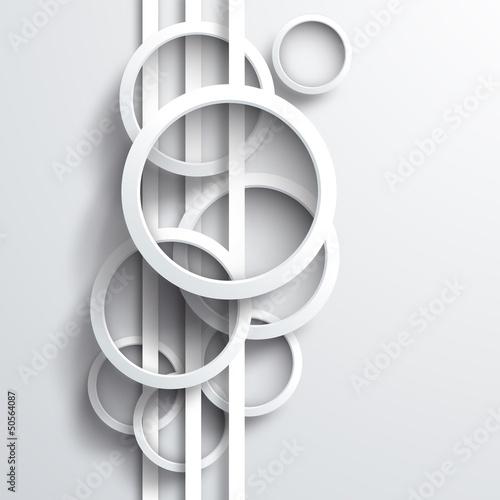 Fototapeta Vector 3d circles background