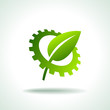 green leaf of gears icon