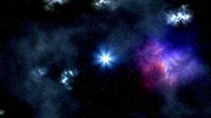Star and rotating nebula