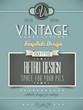Vintage retro page template or cover