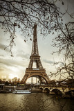 Fototapeta Wieża Eiffla - Parigi Tour Eiffel Tramonto © Nicola_Del_Mutolo