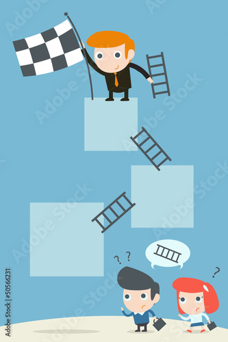 businessman success on career, vector
