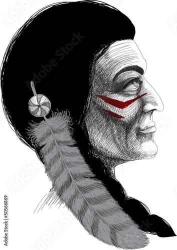 Portrait of an Indian warrior
