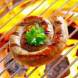 Flaming Rolled Sausage
