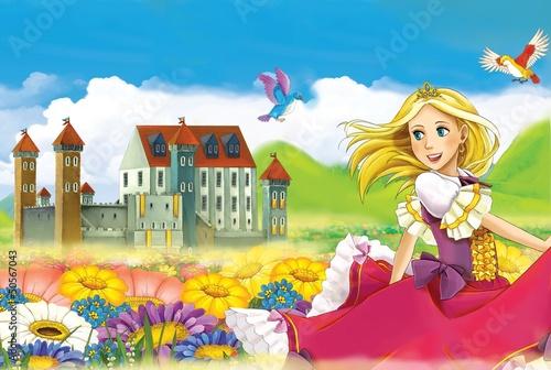 Fototapety, obrazy : The fairy - Beautiful Manga Girl - illustration
