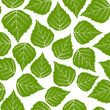 Seamless leafs green pattern, vector