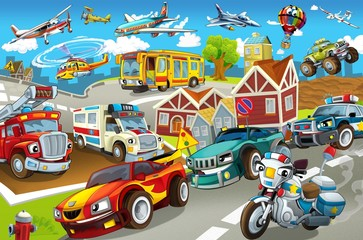 The vehicles in city, urban chaos © honeyflavour