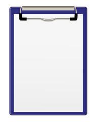 Clipboard, blau