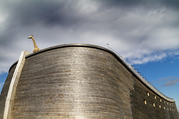 Close up of Noah's Ark and giraffe