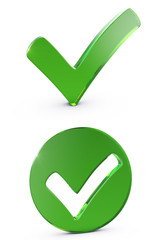 Green shiny checkmark
