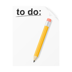 To do list. Vector illustration