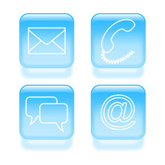 Set of customer support icons. Vector illustration