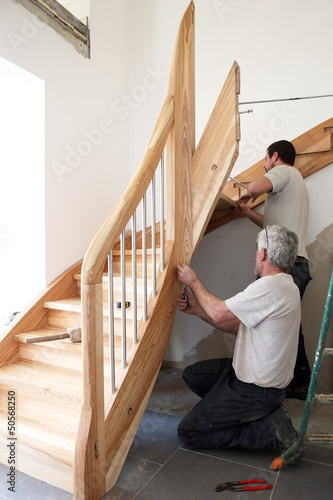 Leinwanddruck Bild Escalier
