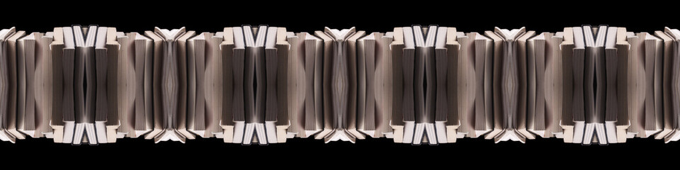 Books; Design and pattern of stacked paper books