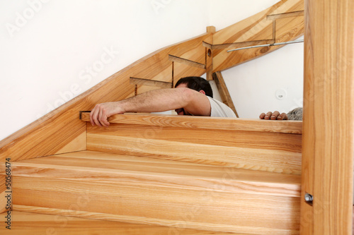 Foto op Canvas Trappen Escalier