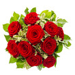 bouquet of red rose flower isolated on white