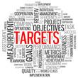 """TARGETS"" Tag Cloud (performance goals objectives teamwork kpis)"