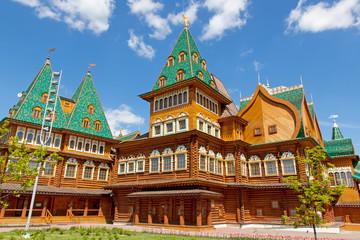 Beautiful wooden palace in Kolomenskoe