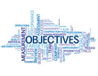 """OBJECTIVES"" Tag Cloud (performance targets goals teamwork kpis)"